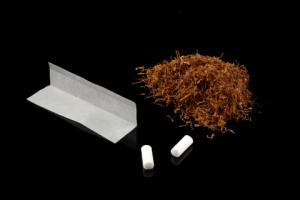 Blättchen, Filter und Tabak