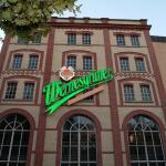 Frontansicht des Wernesgrüner Brauhauses